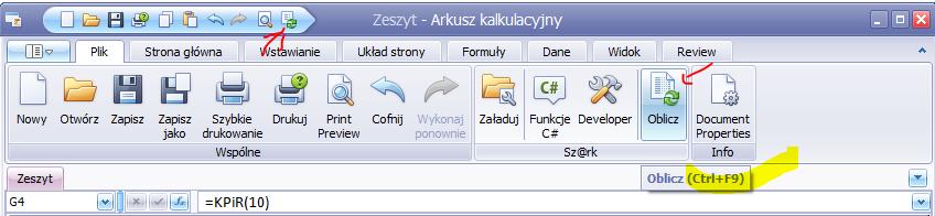 KPiR w Excelu