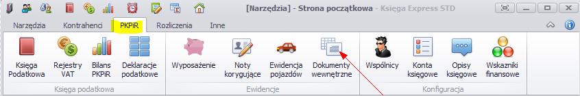Dokumenty wewnętrzne KPiR